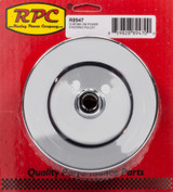 GM Power Steering Pulley 2 Groove Chrome