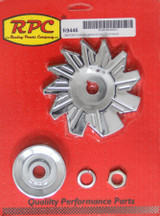 SIngle Groove Alternator Pulley And Fan Chrome