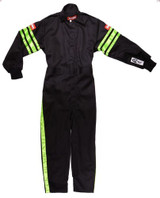 Black Suit Single Layer Kids Large Green Trim