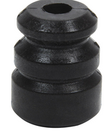 "Conical shaped bump rubbers fit on most shock shafts up to 16mm to limit shock travel. Bump rubbers are 2-3/8"" tall and have a 2"" O.D. base. A letter designation is molded in the bottom to identify compound."