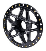 Splined Wheel Center Black