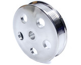 Serpentine Pulley - Polished Aluminum