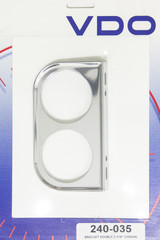 Chrome Two Hole 2-1/16in Mount Bracket