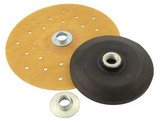 Tire Sander Backing Pad, 7 in OD, 5/8-11 in Thread, Fiber / Urethane