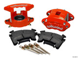 Front Caliper Kit D154 / Metrice GM Red w/Pads