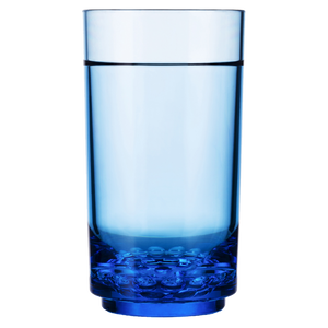 Drinique Elite Unbreakable Tall 14 oz Highball Tumbler in Blue Tritan