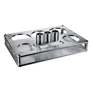 Drinique Floating Bottle Service Tray Machined From Billet Aluminum