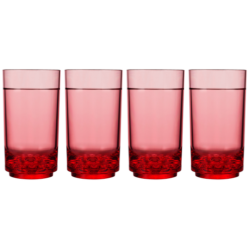 Drinique Elite Tall 14 Ounce (Set of 4, Red)