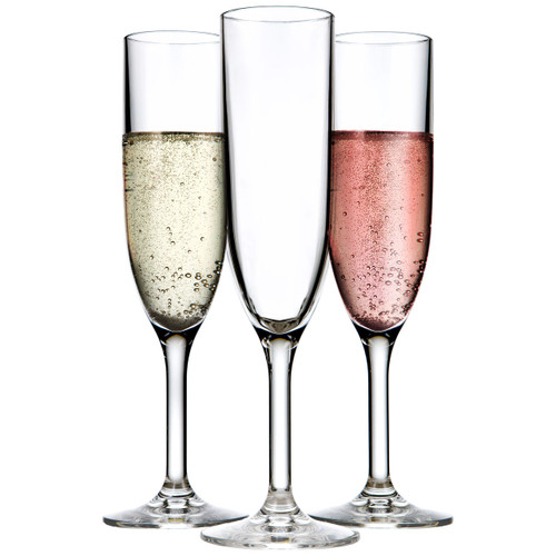 Drinique Unbreakable Tritan Champagne Flute 6 oz. (Set of 4)
