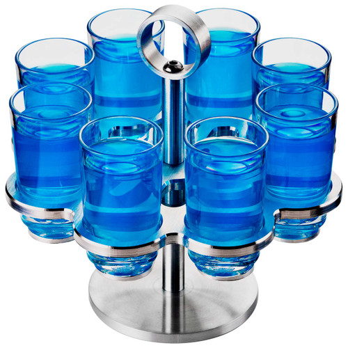Drinique 8 Shot Revolver with Elite Shot Glasses