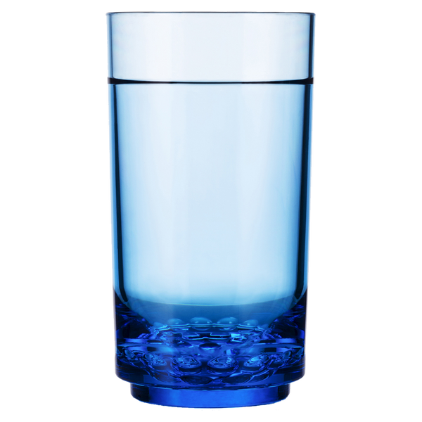 Drinique Elite Unbreakable Tall 14 oz Highball Tumbler in Blue Tritan