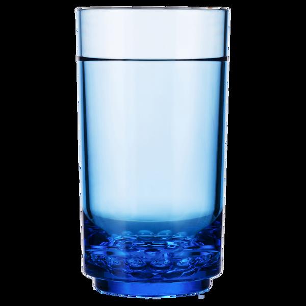 Drinique Blue Elite Tall 14 Ounce Highball Tumbler Glass