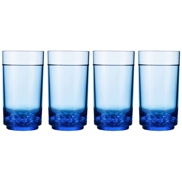 Drinique Elite Tall 14 Ounce (Set of 4, Blue)