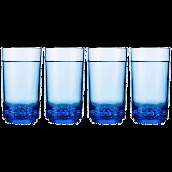 Drinique Elite Tall 14 Ounce (Set of 4, Blue)
