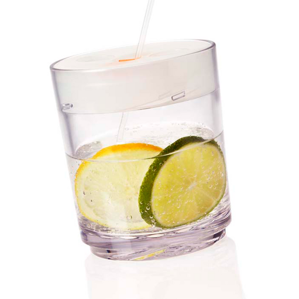 Drinique Classic Tumbler 12 Ounce with White Lid