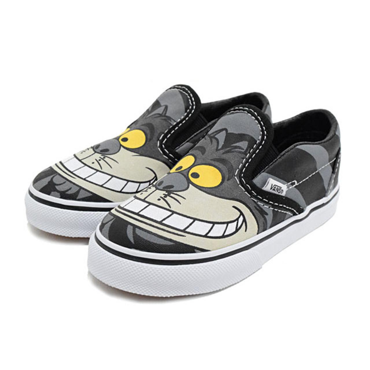 7661d5302ae8a2 Vans Kids Unisex Slip-On Disney Cheshire Cat Shoes