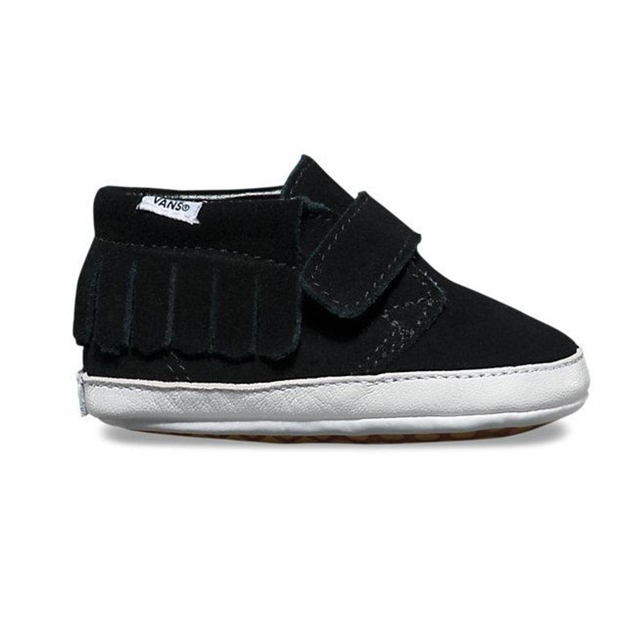 d462cf72264 Vans Baby Infant Suede Chukka V Moc Black Shoes
