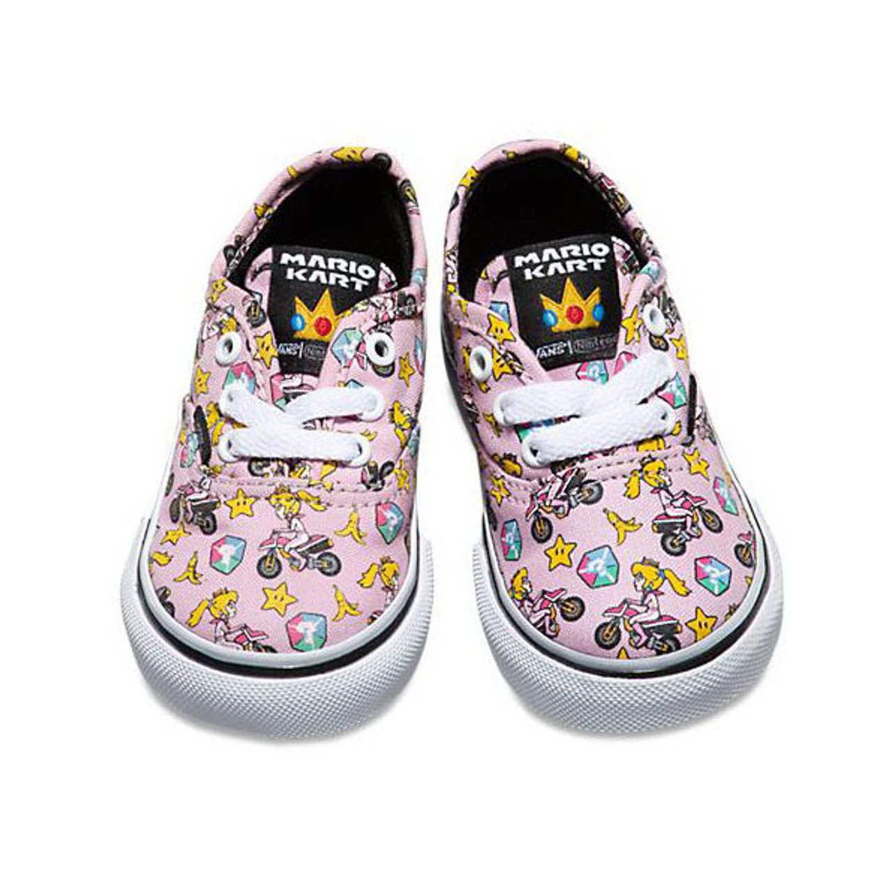 7b9bcf3f5e Vans Nintendo Collaboration Princess Peach Motorcycle Authentic Shoes
