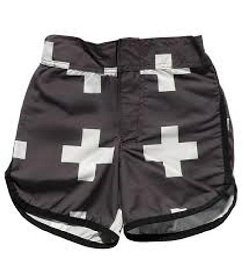 Black Plus Surf Shorts