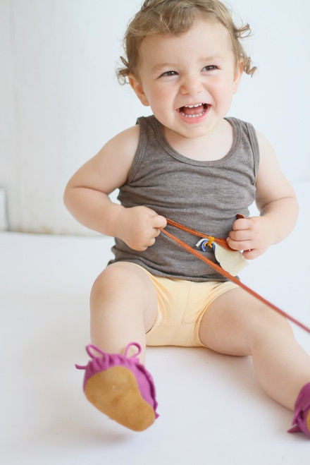 Toddler Fringe Bootie Fuschia