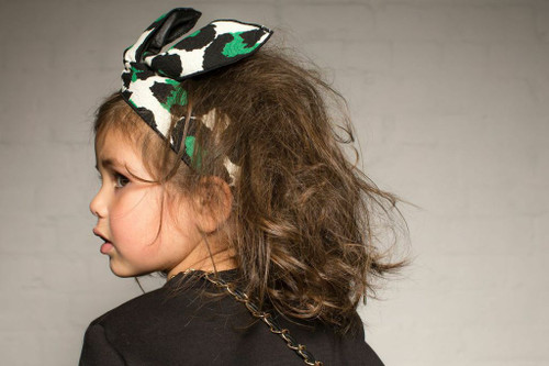 Leopard Green Twist Headband