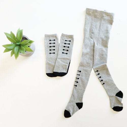Grey Ladder Knee-Hi Socks