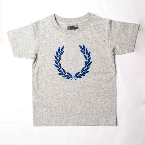 Flocked Laurel T-Shirt Grey