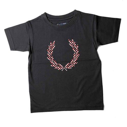 Flocked Laurel T-Shirt Navy