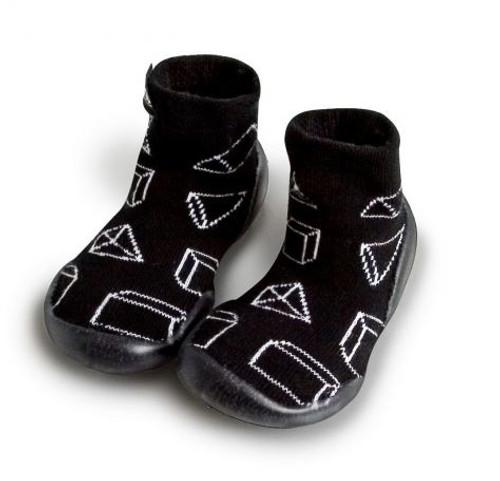 Collegien Geometric Slippers Black