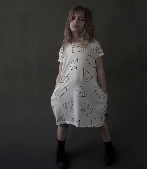 Geometric A Dress White