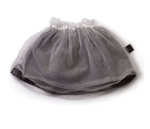Tulle Skirt Dyed Grey