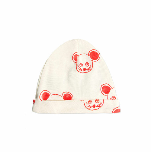 Red Mouse Baby Beanie
