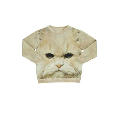 Loose Cat White Sweat