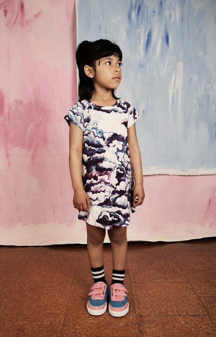 Purple Clouds Raglan Dress