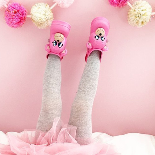 Monkey Boot + Jeremy Scott Pink Gloss