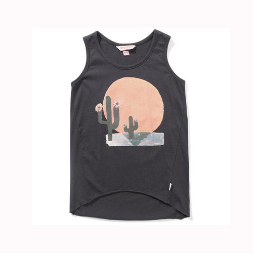 Rising Soft Black Tank Top