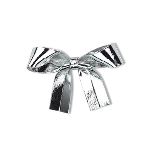 Metallic Silver Ribbon Duck Clip
