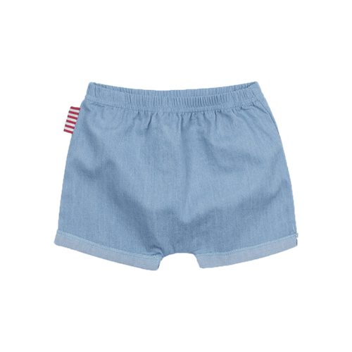 Chambray Roll Cuff Short