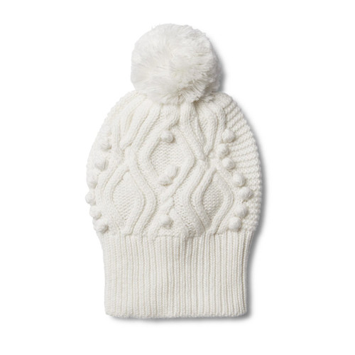 Cloud Cable Knitted Pom Pom Hat