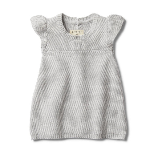 Grey Melange Knitted Dress