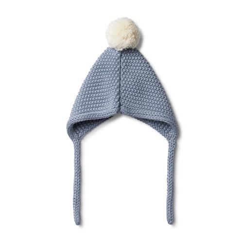 Dusty Blue Knitted Bonnet