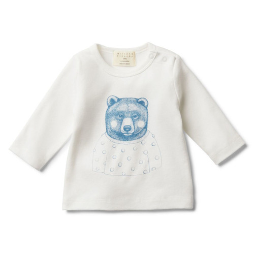 Hello Mr Bear Long Sleeve Top