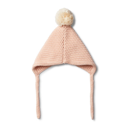 Peachy Pink Knitted Bonnet