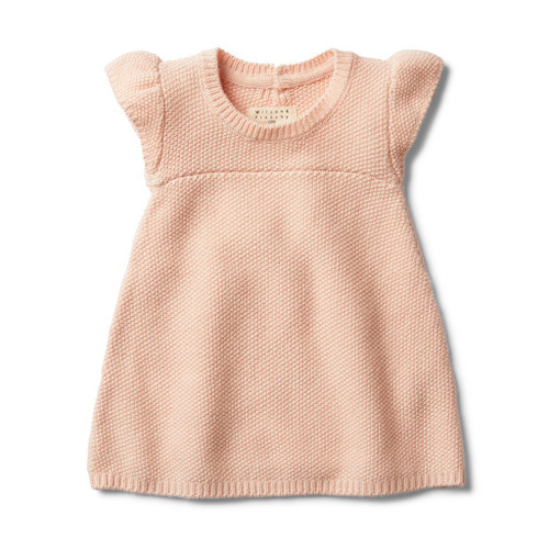 Peachy Pink Knitted Dress