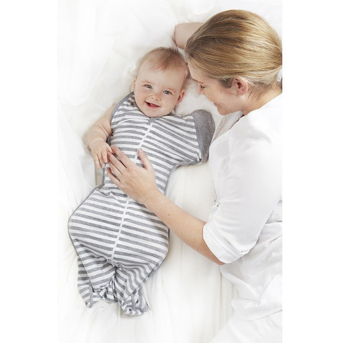 Love To Swaddle UP 50/50 Grey Stripe
