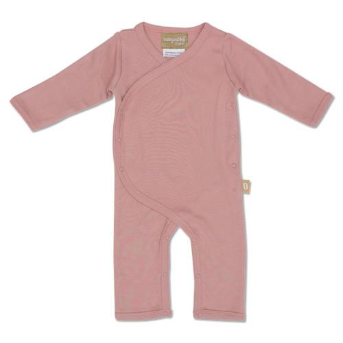 Babyushka Organic Long Sleeve Kimono Romper Mauve