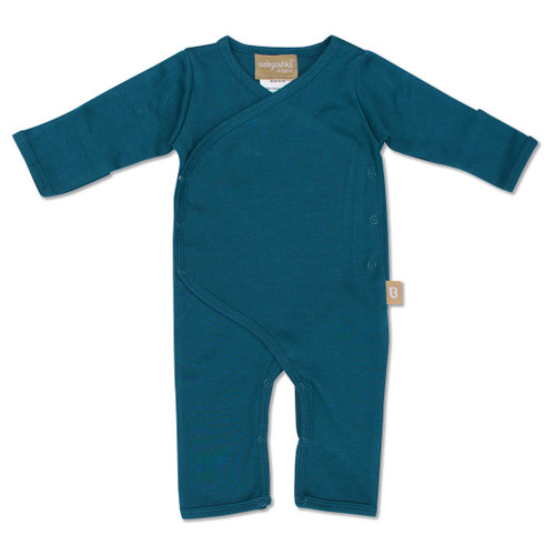 Babyushka Organic Long Sleeve Kimono Romper Blue