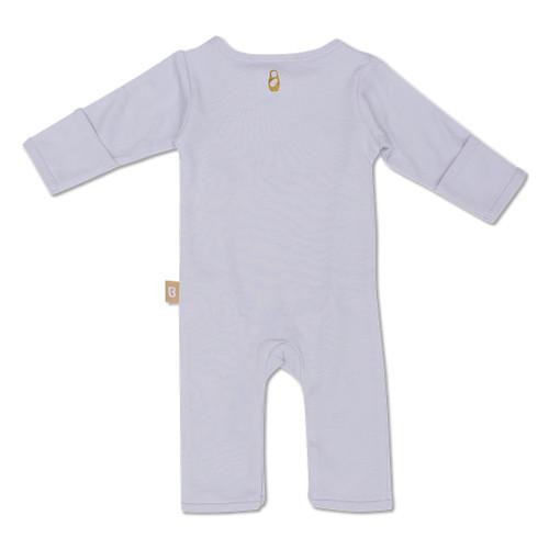 Babyushka Organic Long Sleeve Kimono Romper Grey