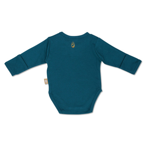 Babyushka Organic Long Sleeve Onesie Blue