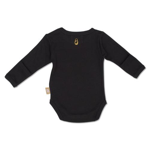 Babyushka Organic Long Sleeve Onesie Black